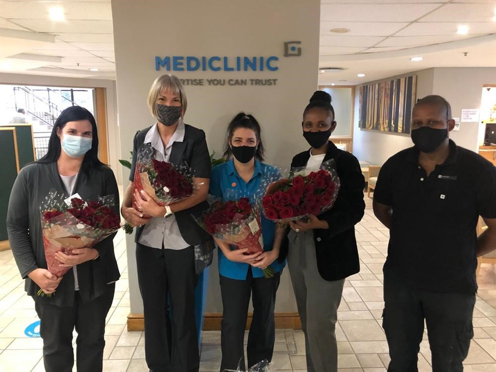 Red roses for Mediclinic staff