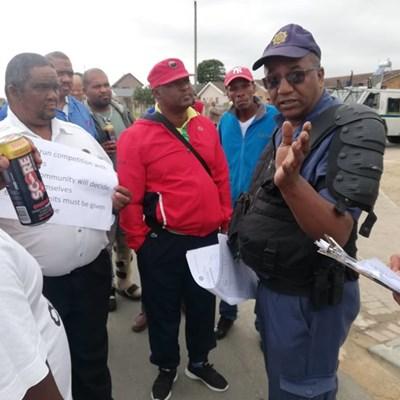 Taxi march underway