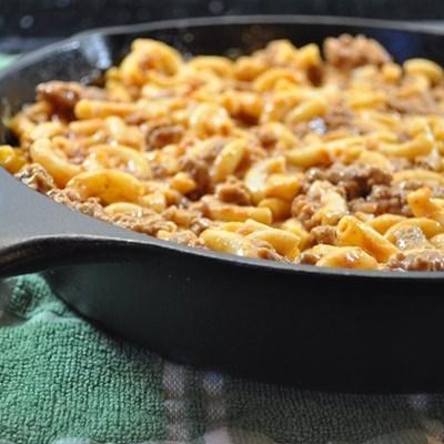 Recipe: Bacon cheeseburger pasta