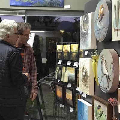 Locals enjoy art from across the country