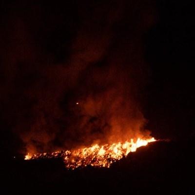 Garden refuse site burning again