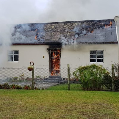 Huis brand in George-Suid