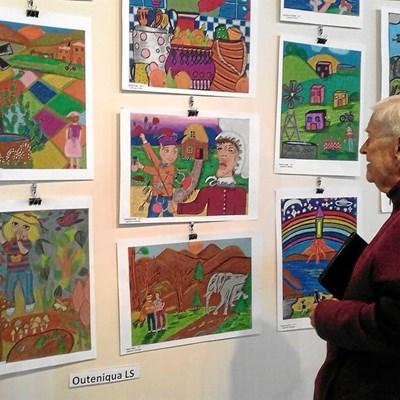 Local children's art on display