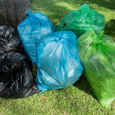 Refuse collection: Blue and green bags