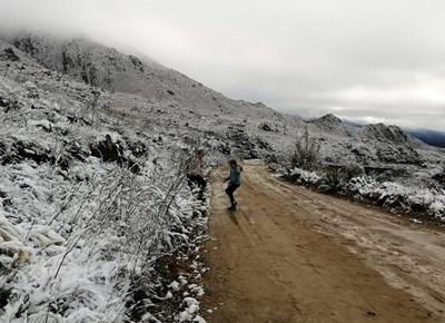 Sneeu in die Swartberge