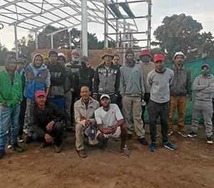 Wilderness-inwoners soek werk by bouperseel van brandweerstasie