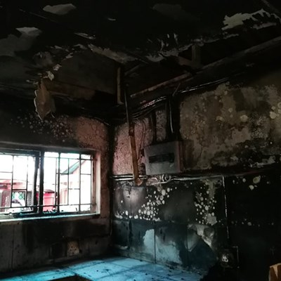 Brand verwoes gewilde eetplek