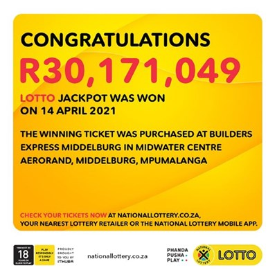 Pensioner to donate money to schools after winning R30m Lotto