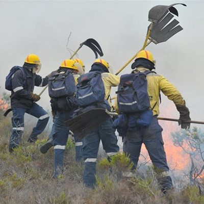 Veld fires burning in George