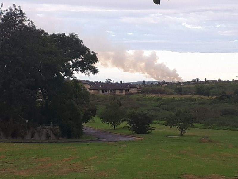 Fire at landfill site