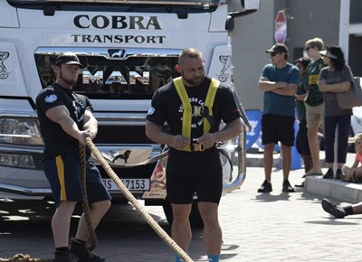 National Strongman competition in Mossel Bay