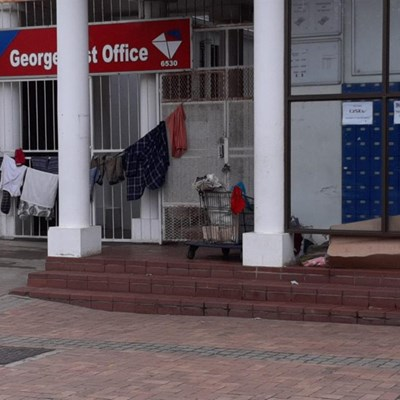 Post Office stoep sleepers 'not welcome'
