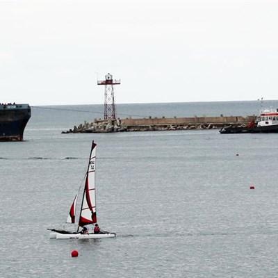 Stricken vessel attended to