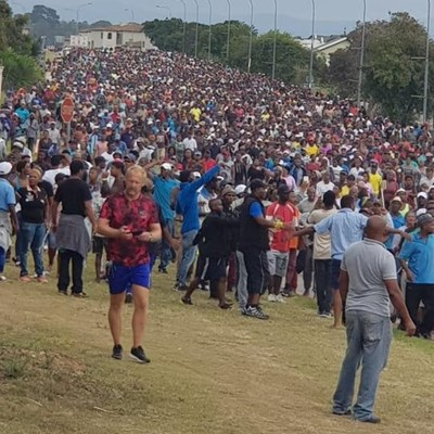 Plett march underway