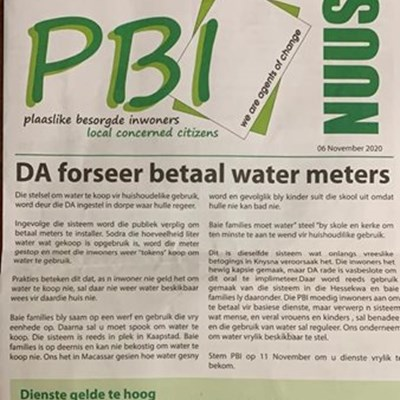 Water meter flyer causes strong currents before by-elections