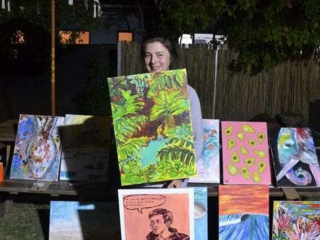 Ex-Georgian wins live art contest