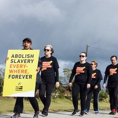Walk against human trafficking
