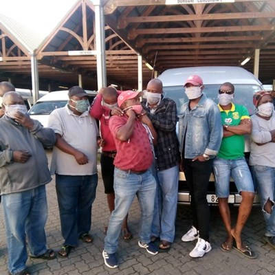 Masked crusaders help out