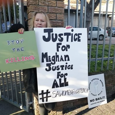 "Women protest: ""No bail for Meghan's murder suspects"""