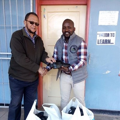 40 pairs of shoes for the needy