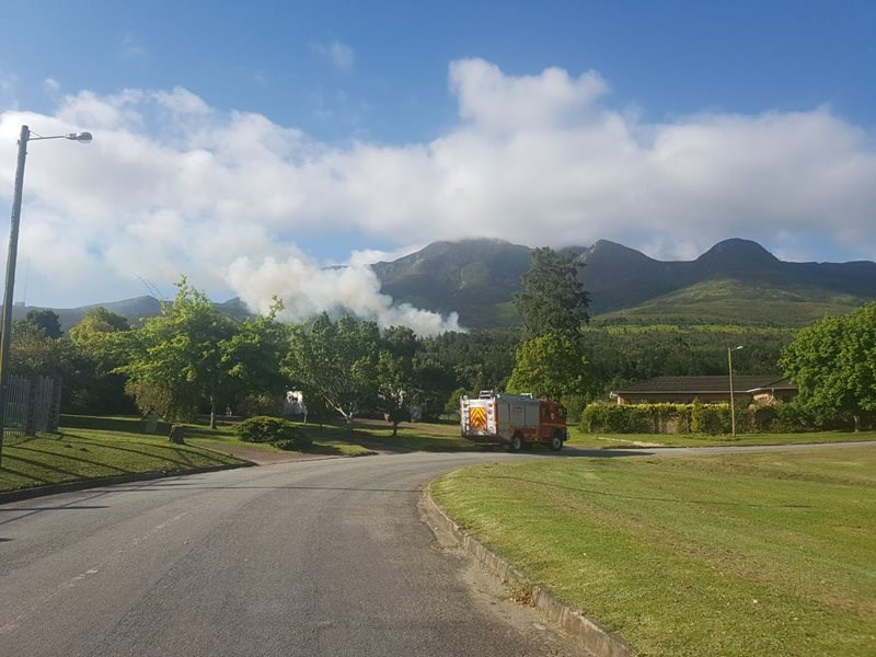 Fire in Outeniqua Mountains