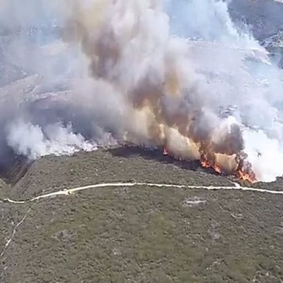 Fatal helicopter crash during firefighting