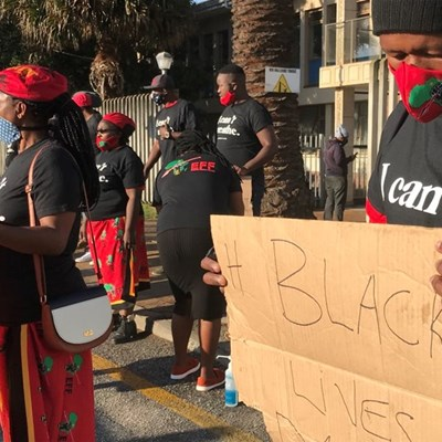 Protest in solidarity with #BlackLivesMatter movement