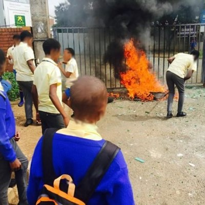 Angry pupils shut down their school