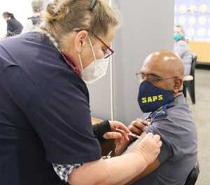 Police vaccination roll-out