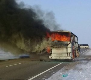 Kazakhstan bus fire kills 52