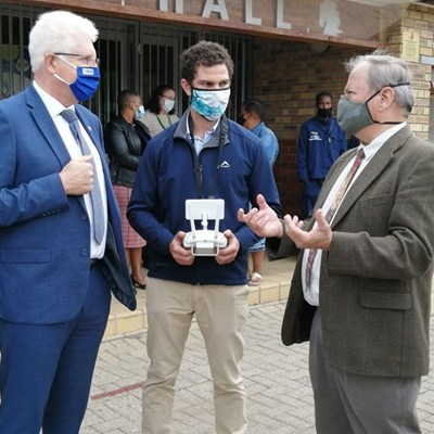 Agricultural students receive drone pilot wings