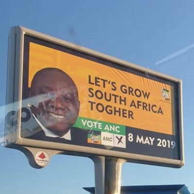 ANC apparently misspells its own election slogan in PE