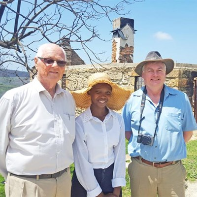 Descendants of toll master visit George