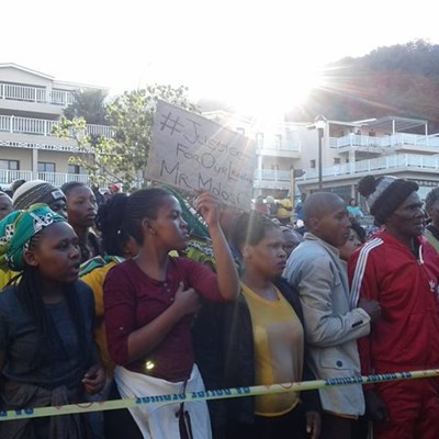 Community march against bail for Molosi assassination suspects