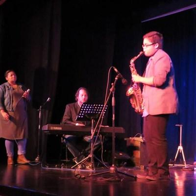 Ramon Alexander in action with jazz whizz-kid Kerwin