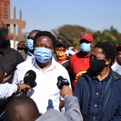 Malema slams court proceedings 'over white man testifying without cameras'