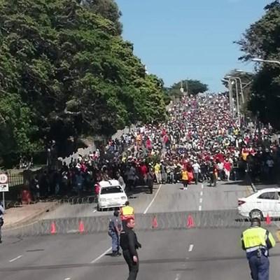 Protestors head home