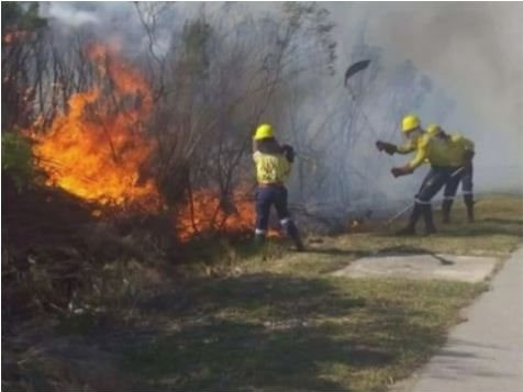Firefighters trying to prevent the spread of Tsitsikamma fires