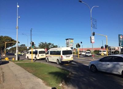 Taxi strike at bus depot