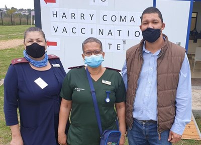 2de Covid-19-inentingsperseel by die Harry Comay-hospitaal geopen