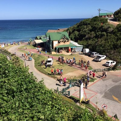 Bakkie goes downhill at Victoria Bay