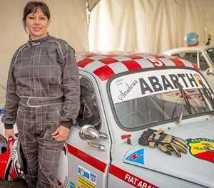Anita en Abarth