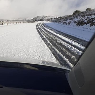 Road closed due to snowfall