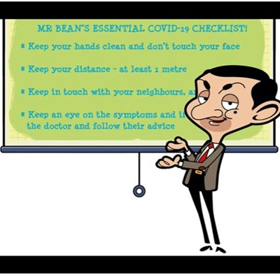 Mr Bean advises the public on Covid-19