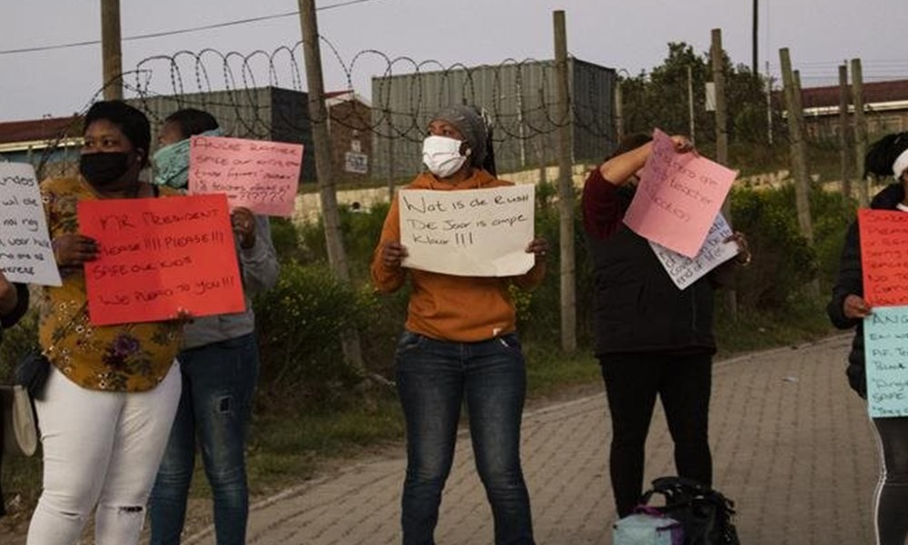 Protests against opening of schools