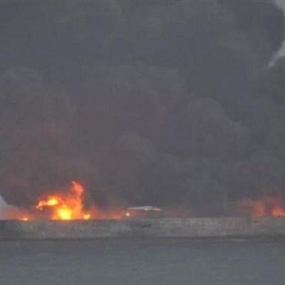 Burning tanker off Chinese coast 'in danger of exploding'