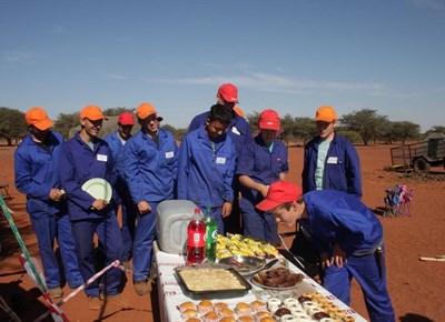 Junior jagopleiding in die Kalahari