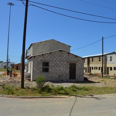Vandals target housing project