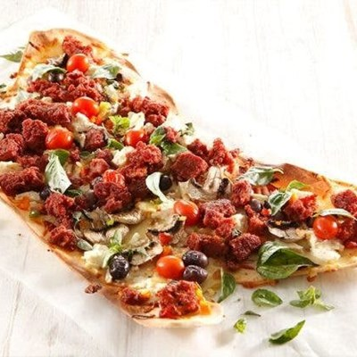 Recipe: Crispy Bull Brand pizza