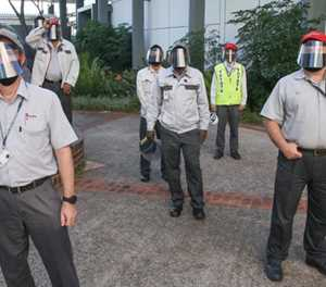 Toyota's locally-produced face shields